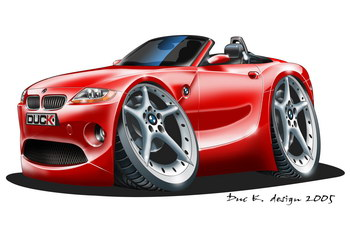 Caricaturas Coches Bmw